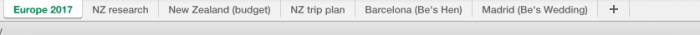 spreadsheet tabs
